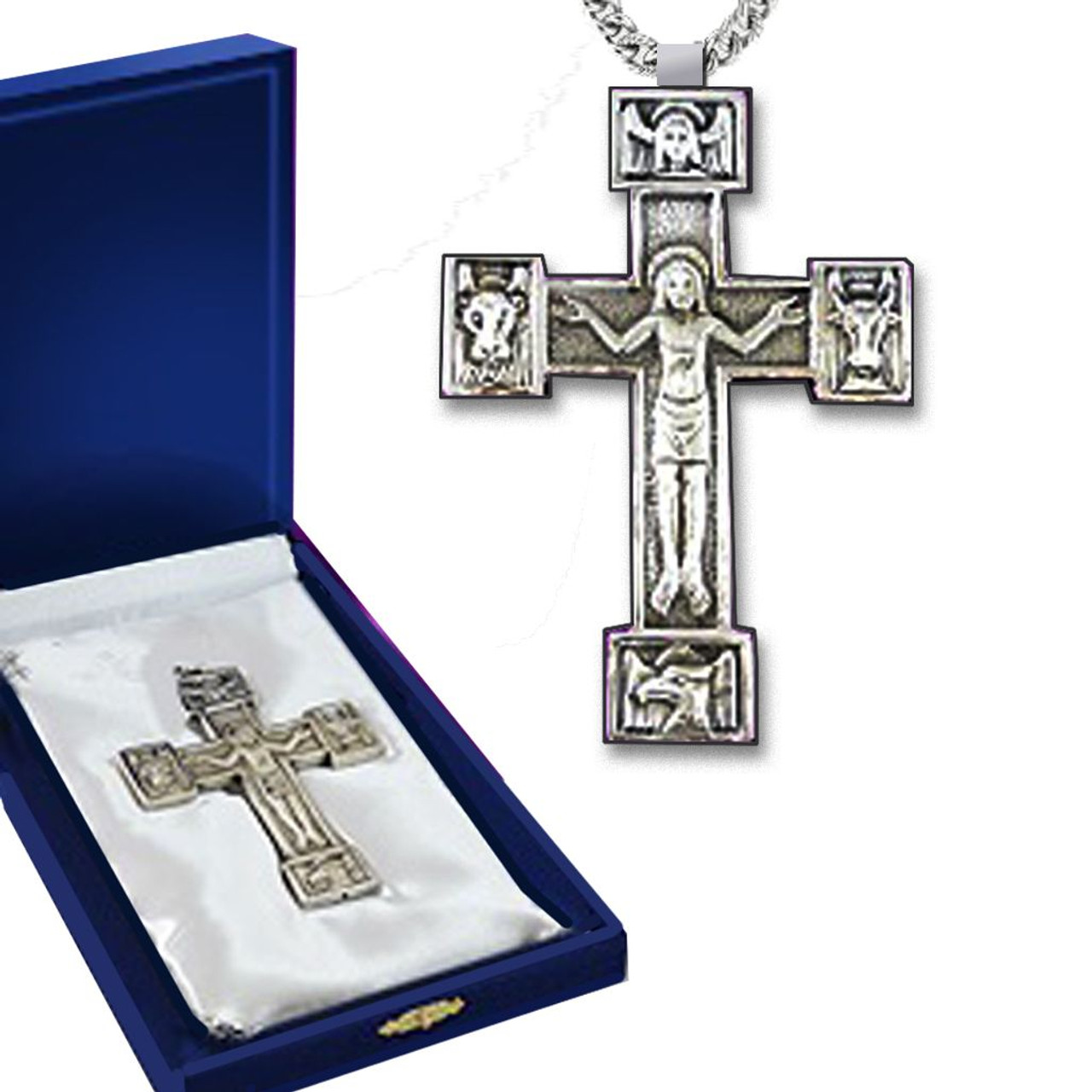 Silver Pectoral Cross with Case