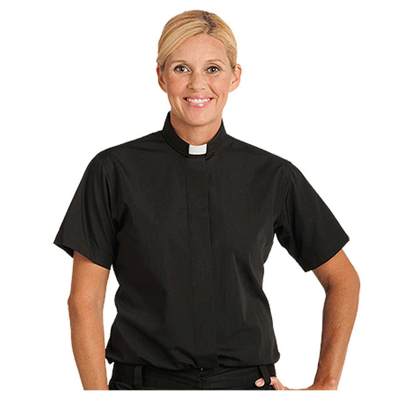 Women's Short Sleeve Tab Shirt in Black