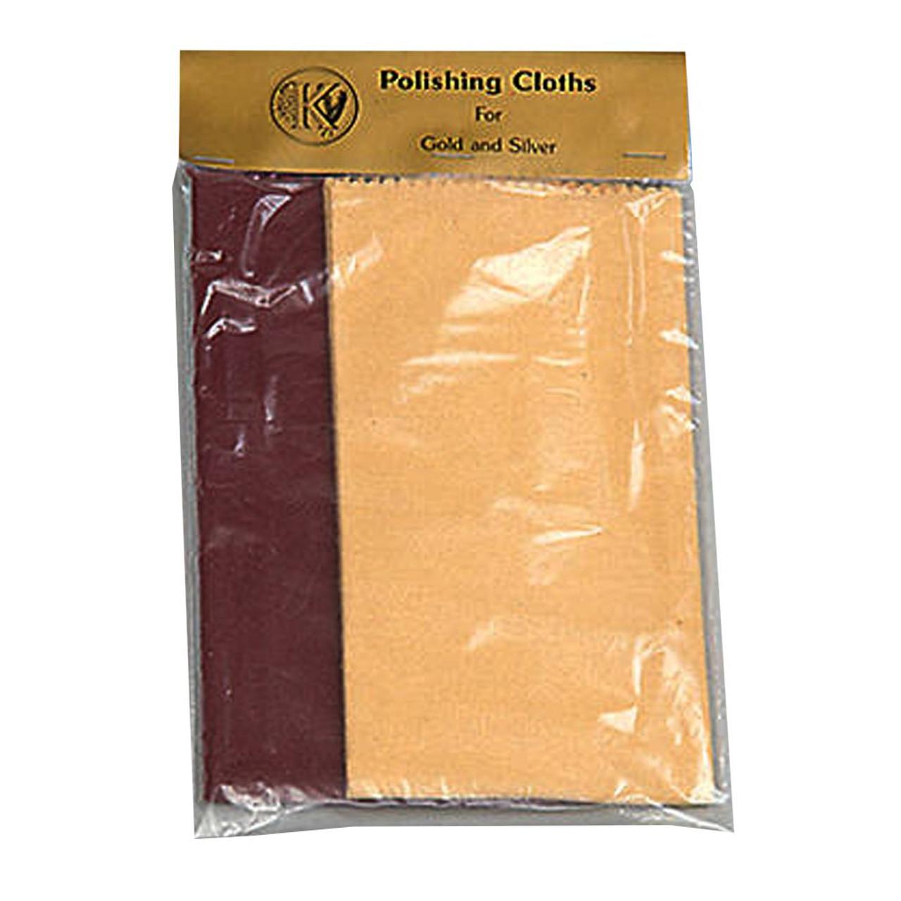 Gold & Silver Polishing Cloth - 2 Per Bag