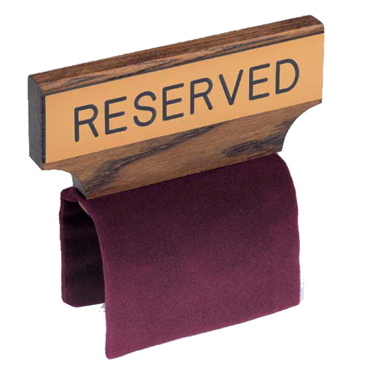 Reserve Sign with Flexible Maroon Clamp