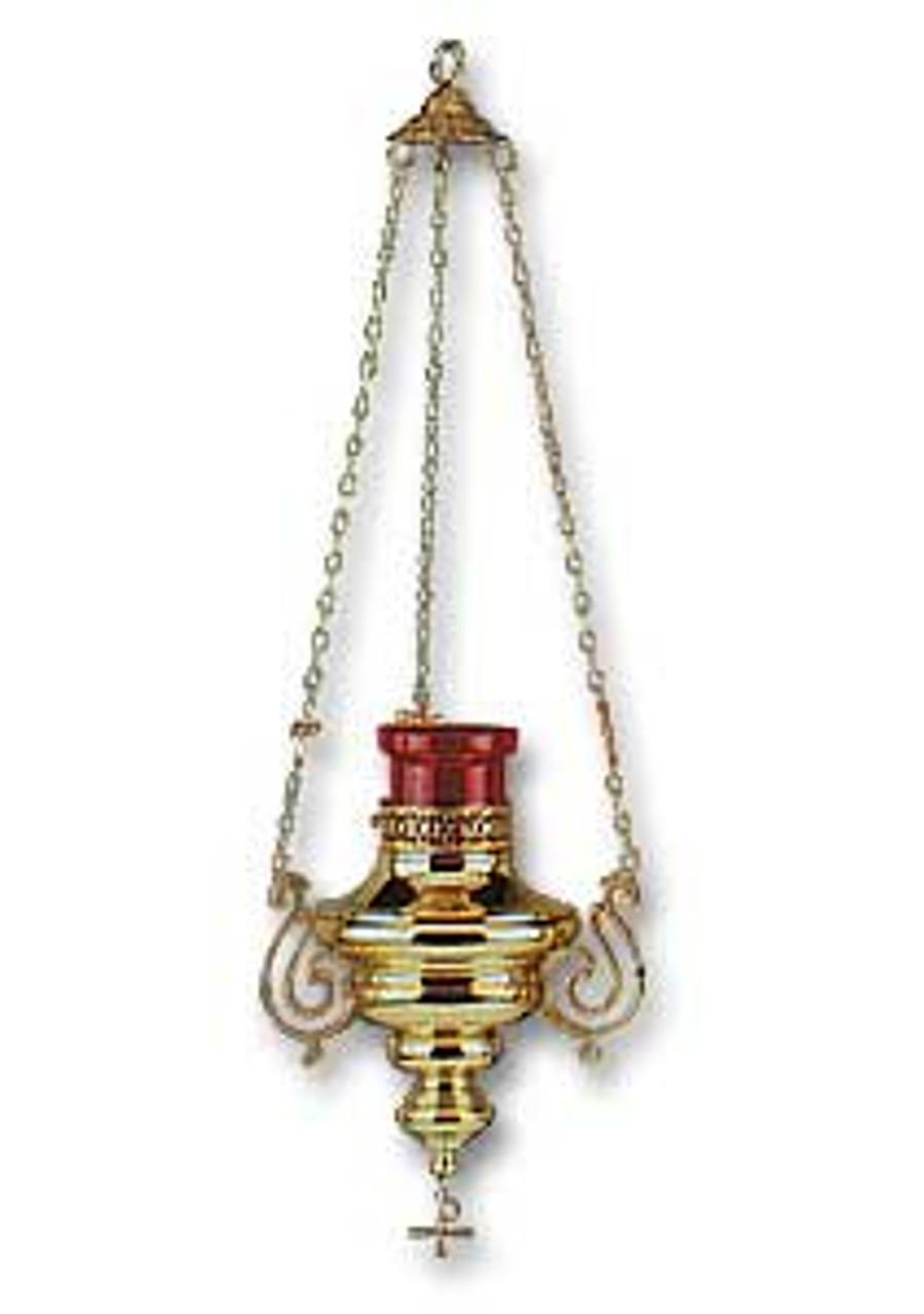 Brass Hanging Sanctuary Lamp