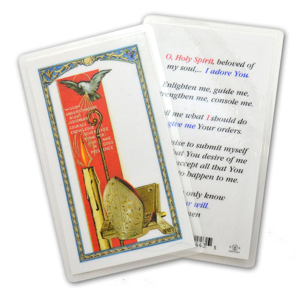 Holy Spirit Holy Card Laminated