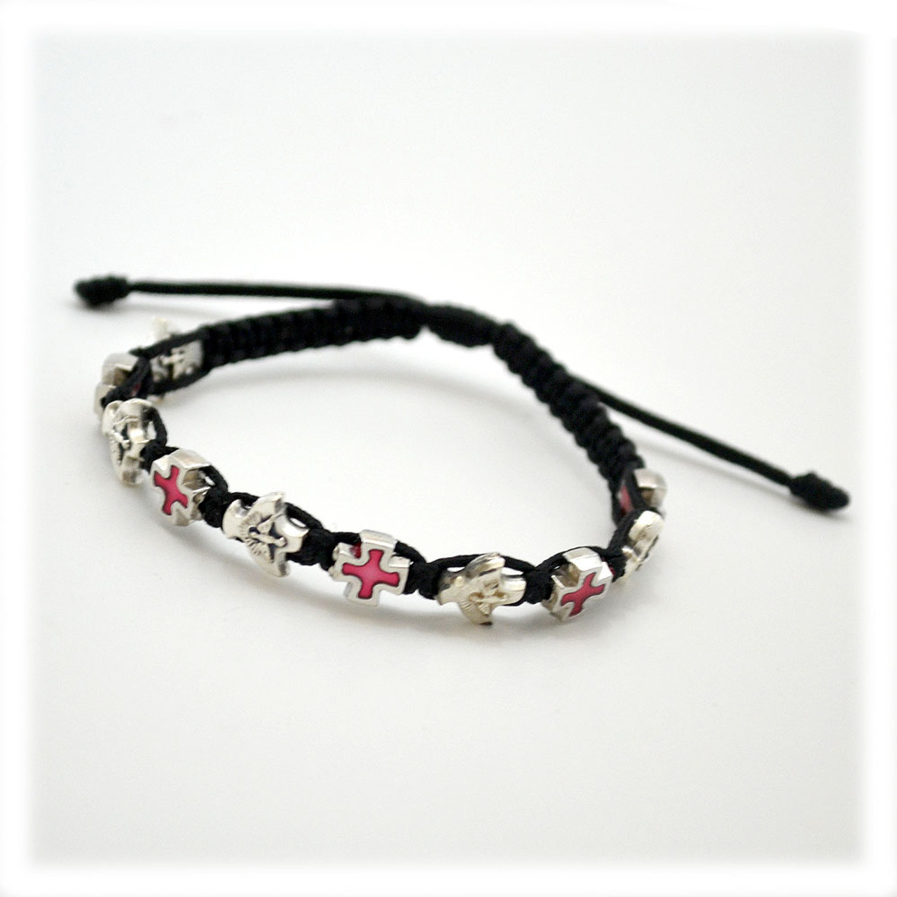 Corded Confirmation Bracelet in Black