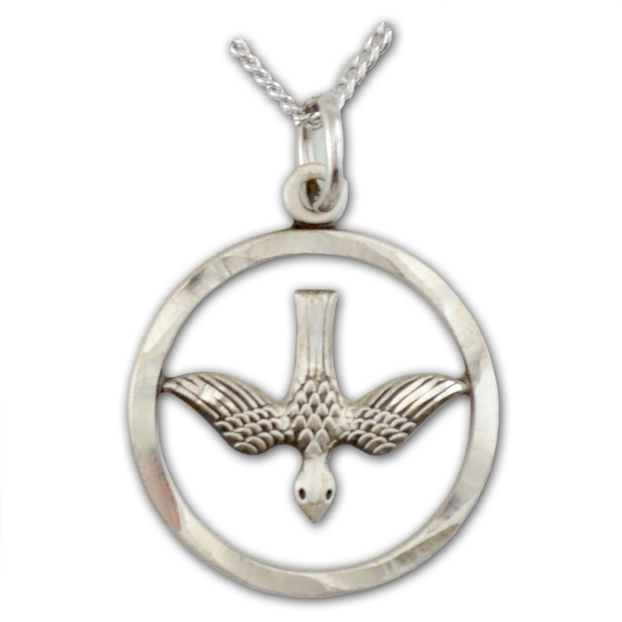 Silver Holy Spirit Dove Confirmation Necklace