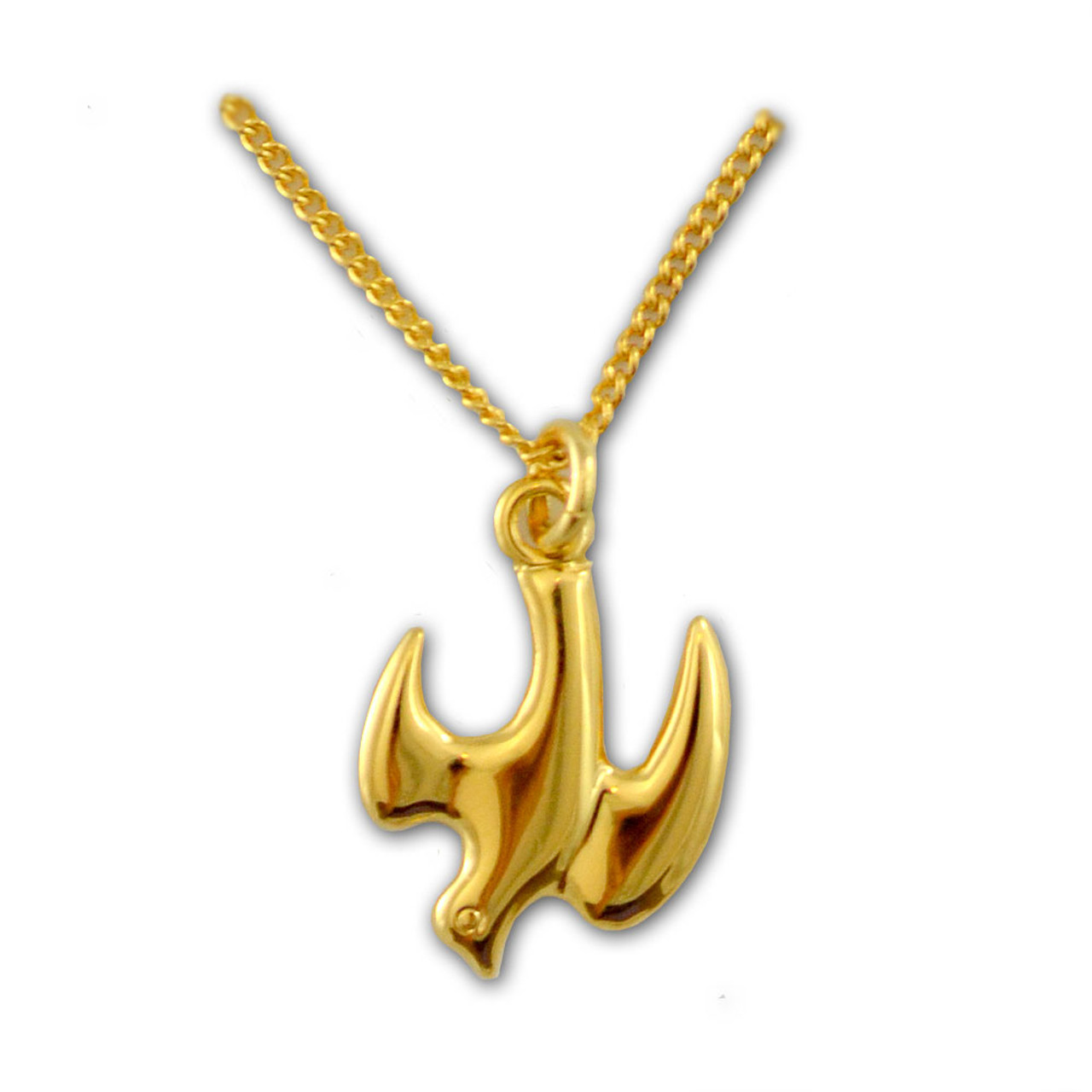 """Gold Dove Confirmation Necklace on 18"""" Chain"""