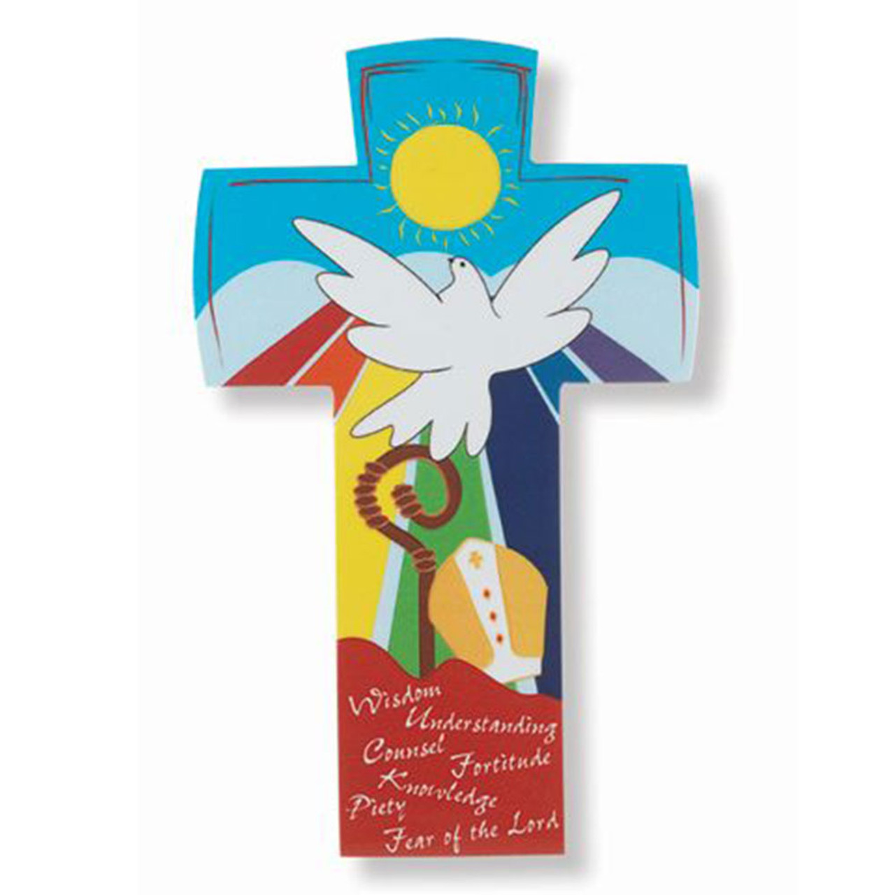 Laminated Confirmation Cross With Hanger