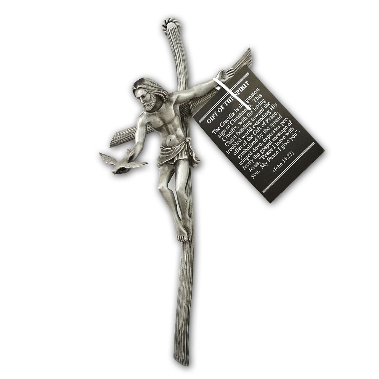 Gift of the Spirit Pewter Wall Cross 9IN