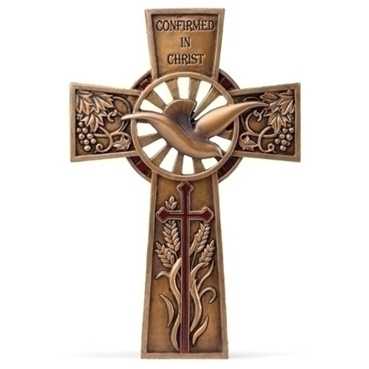 Confirmation Wall Cross 7.75IN Resin/Stone