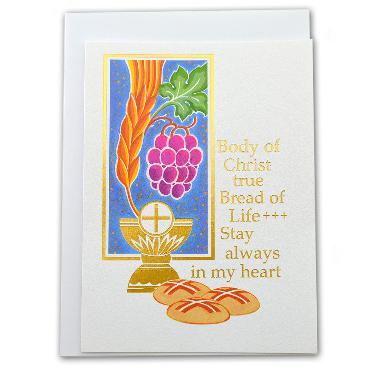 'Body of Christ' First Communion Greeting Card