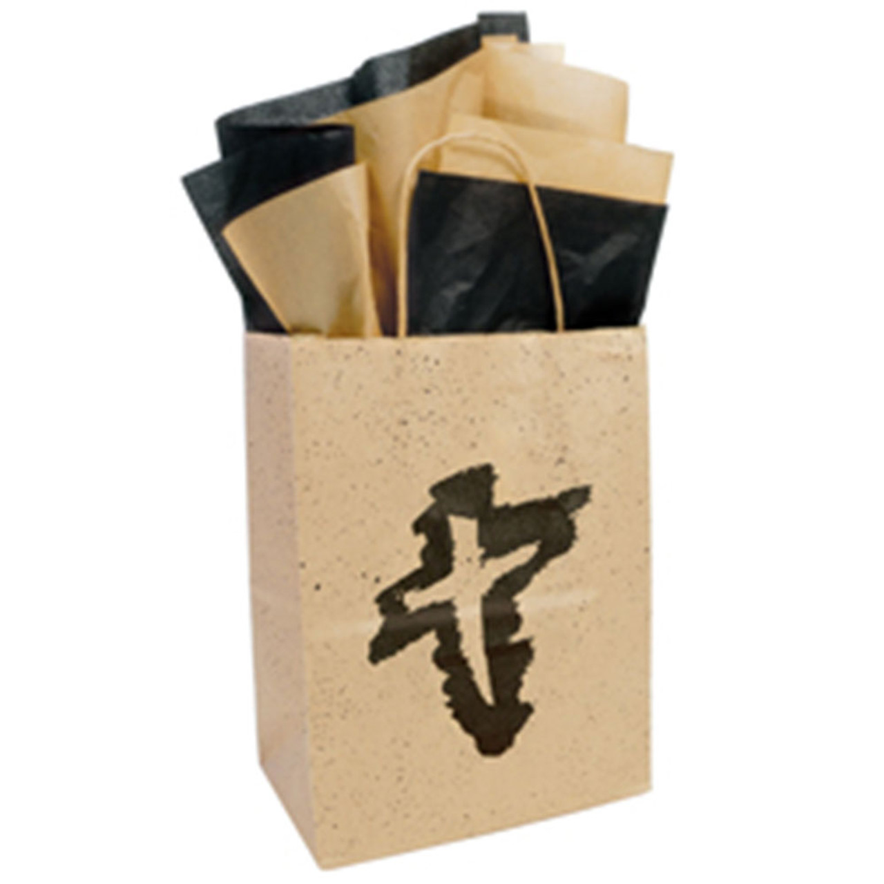 Small Cross Paper Gift Bag w/Tissue Paper