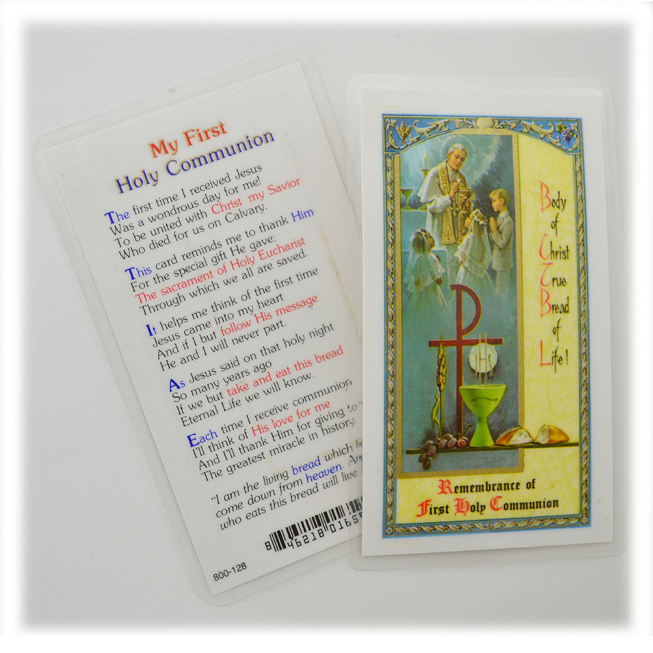 My First Holy Communion Holy Card Laminated