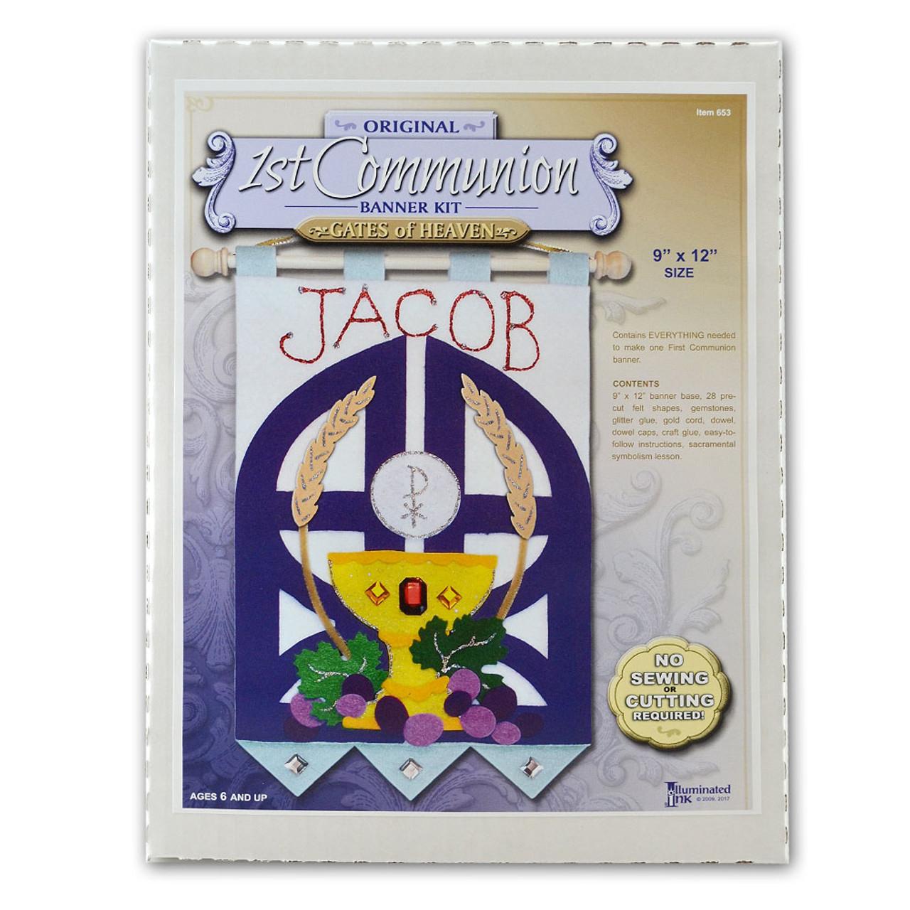 First Communion Banner Kit for Boys