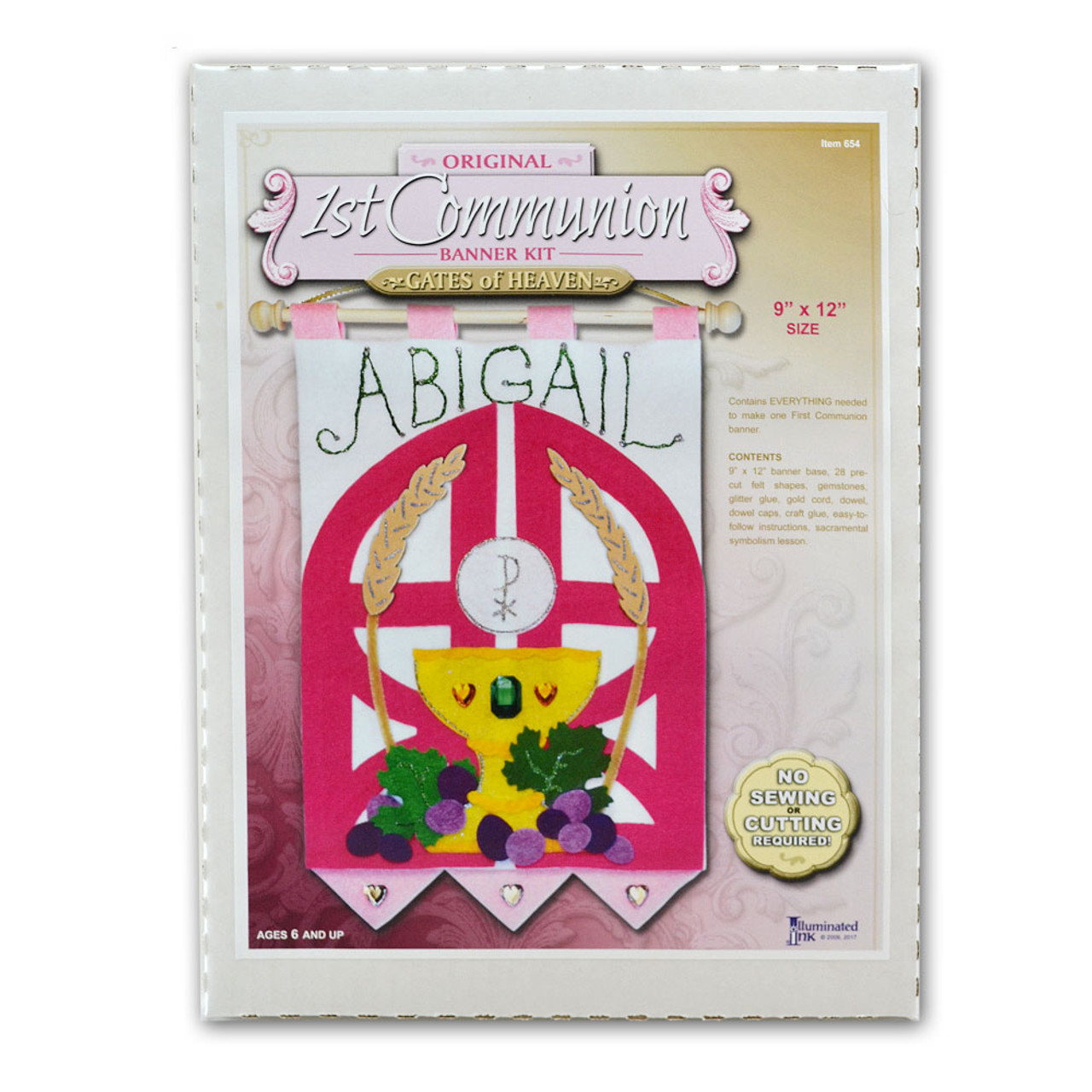 First Communion Banner Kit for Girls