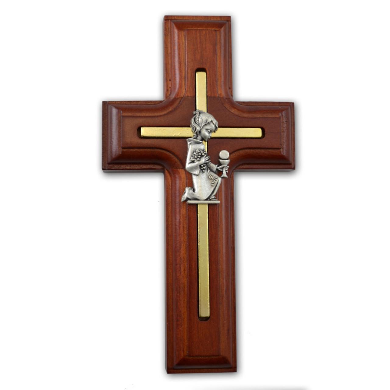 Rosewood Communion Cross Girl 5IN