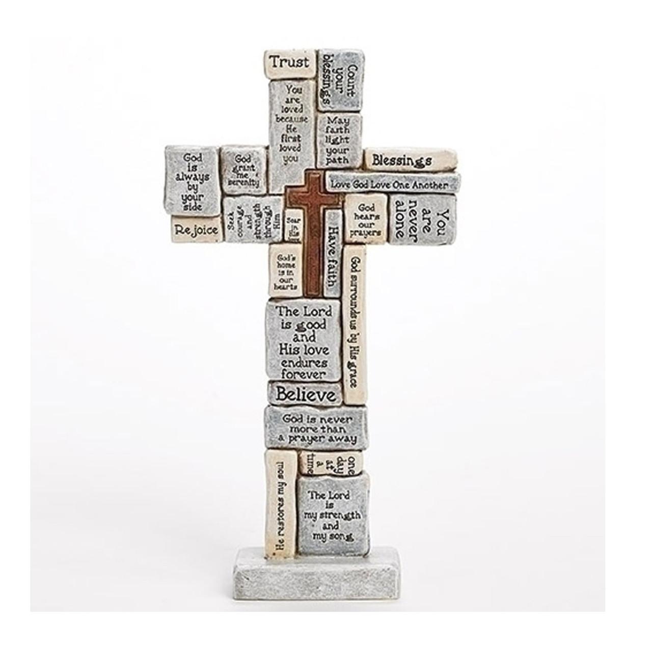 "12"" Crossword Tabletop Cross"