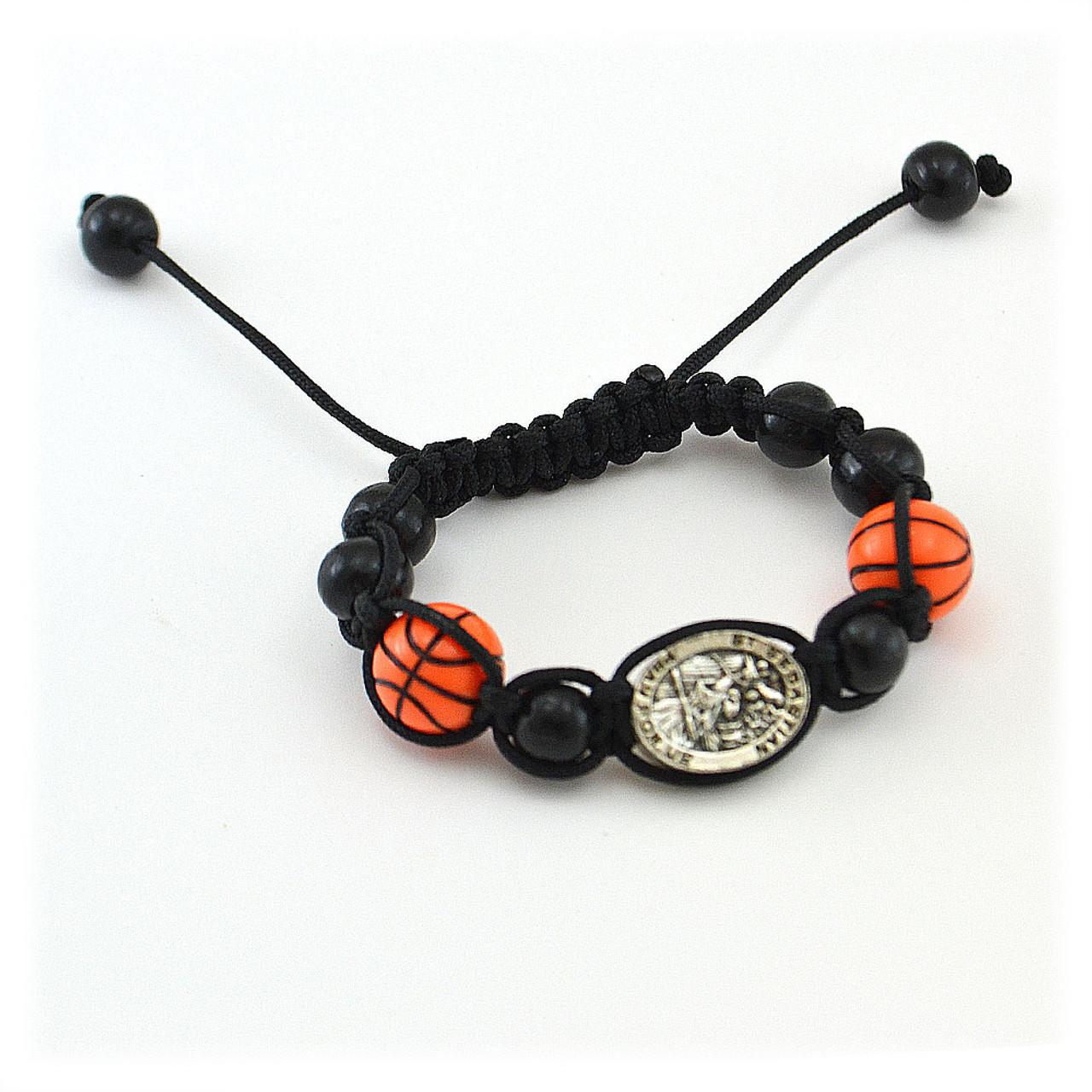 Basketball Sports Bracelet With Medal