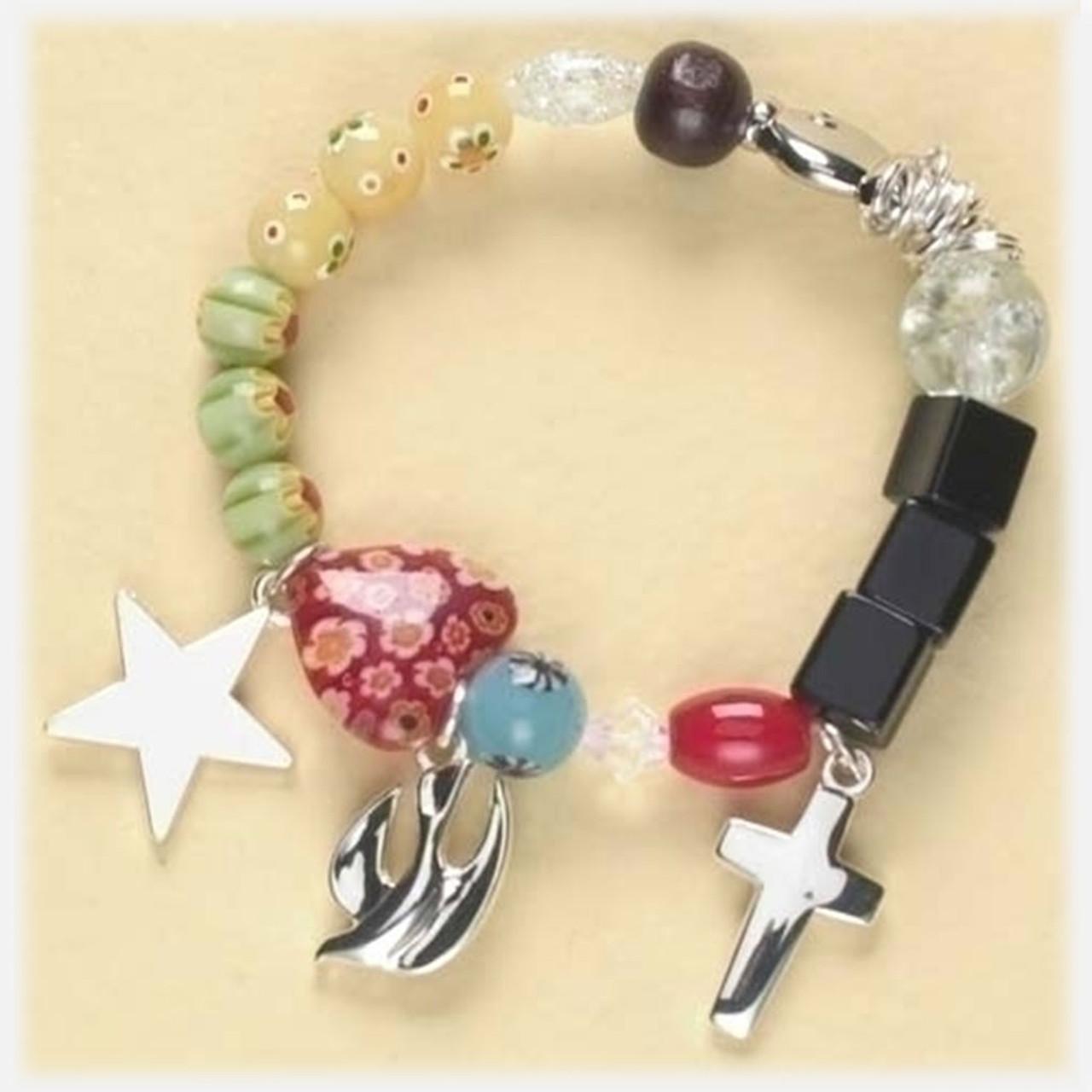 Story of Jesus Beaded Children's Bracelet 5 Inch
