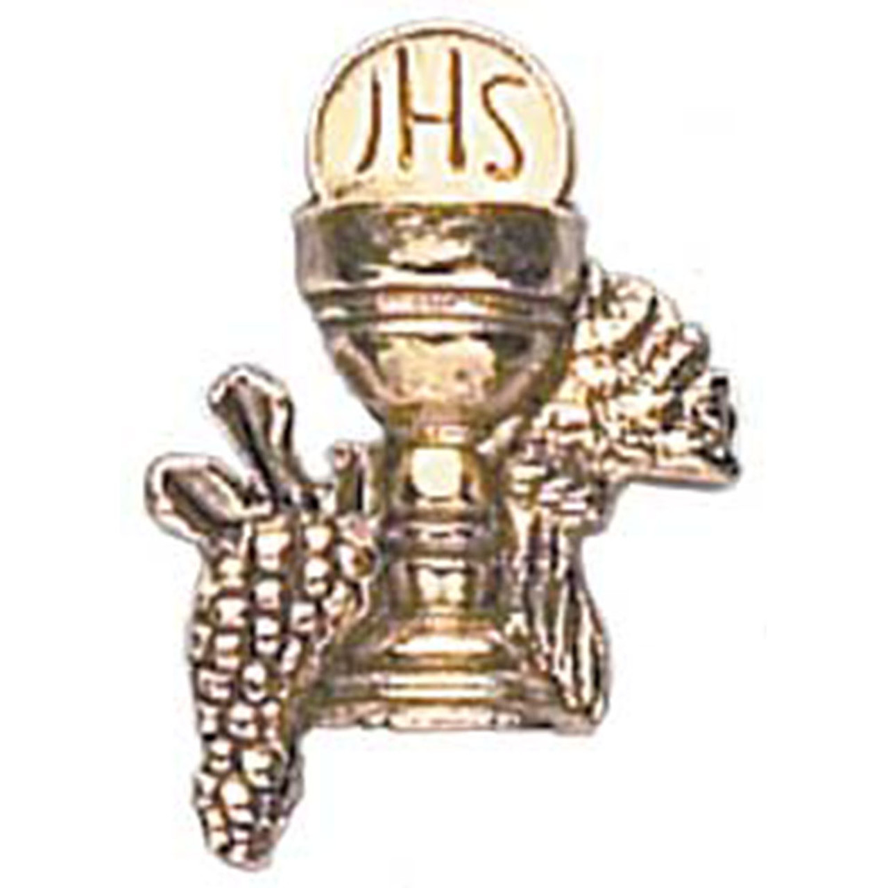 First Communion Lapel Pin with Chalice and Grapes