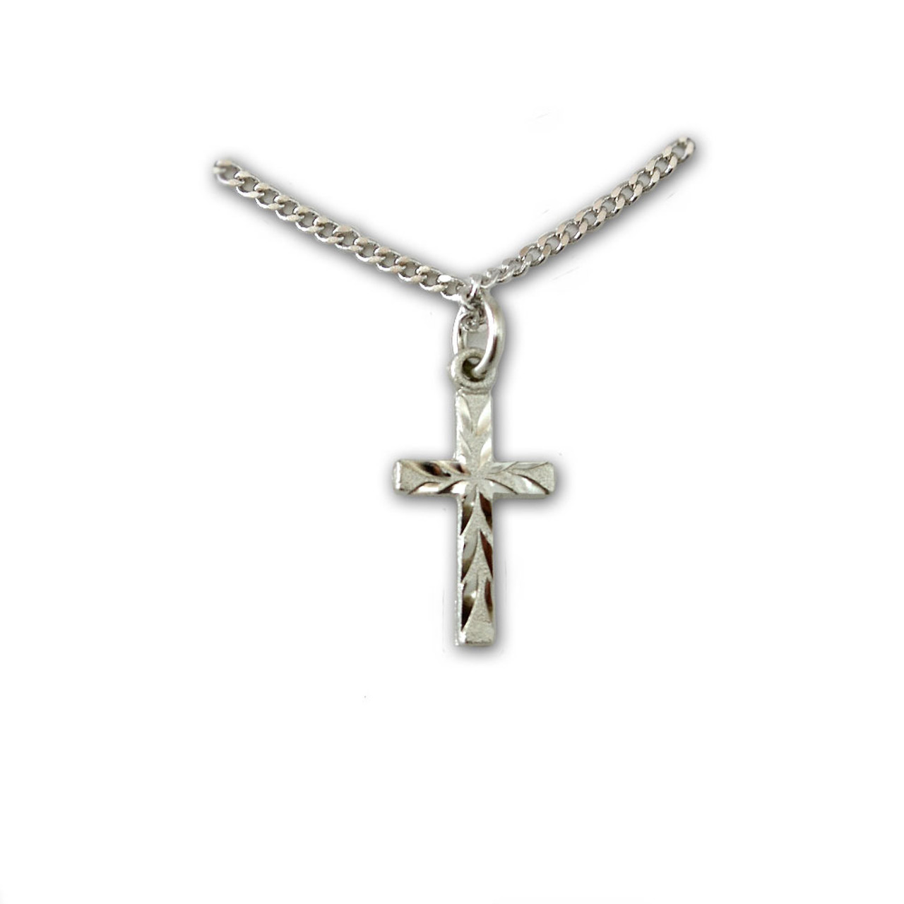 Youth Engraved Cross Necklace