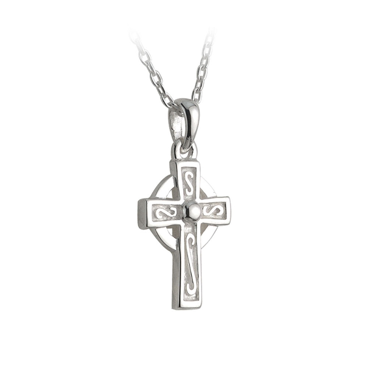 Celtic Cross Necklace with Pearl