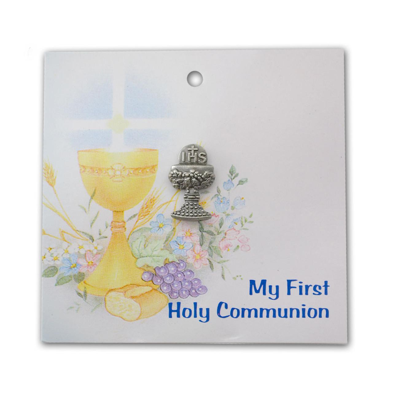 Silver Communion Chalice Lapel Pin