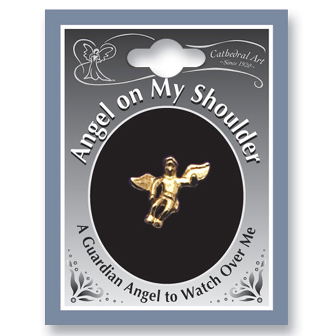 Guardian Angel on My Shoulder Lapel Pin Gold