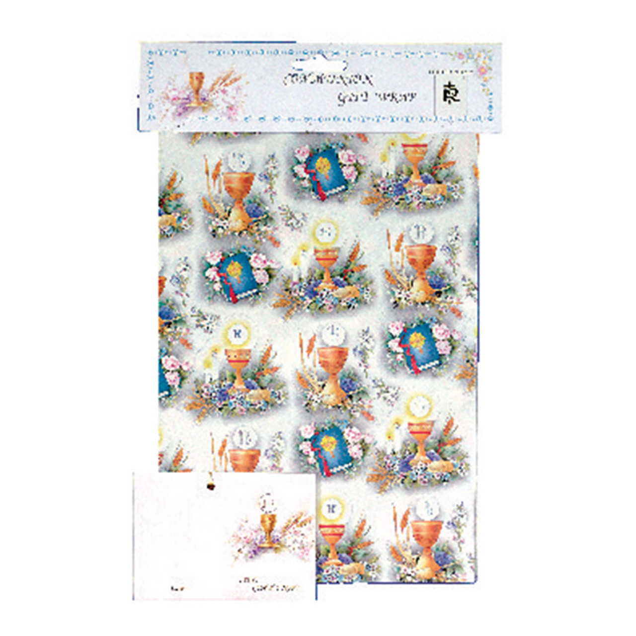 Gift Wrap First Communion Flat Wrapping Paper