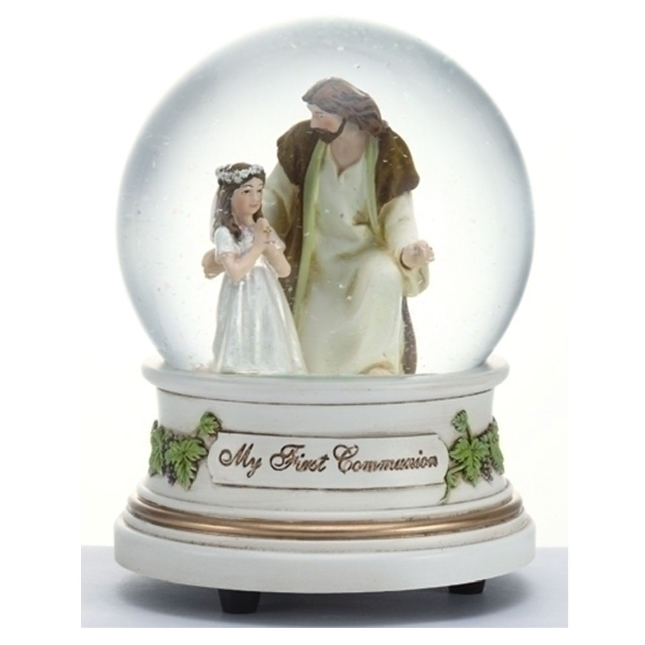 Girl With Jesus Glitterdome Musical 5.5IN