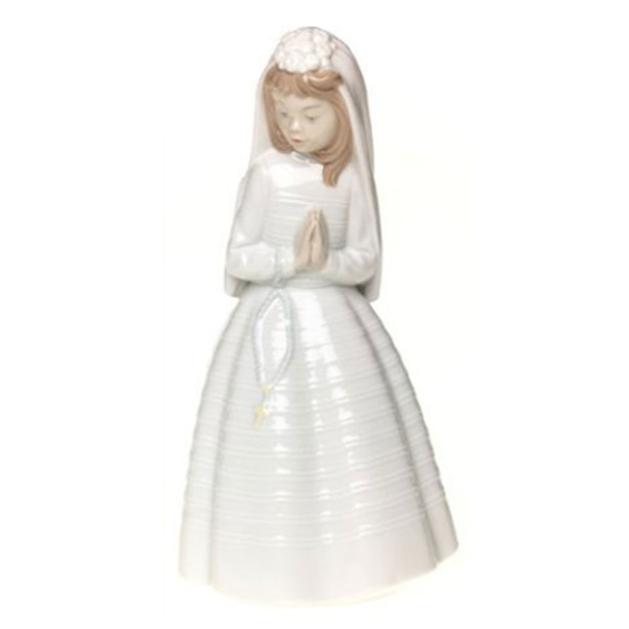 "9.5"" First Communion Girl Lladro Statue"