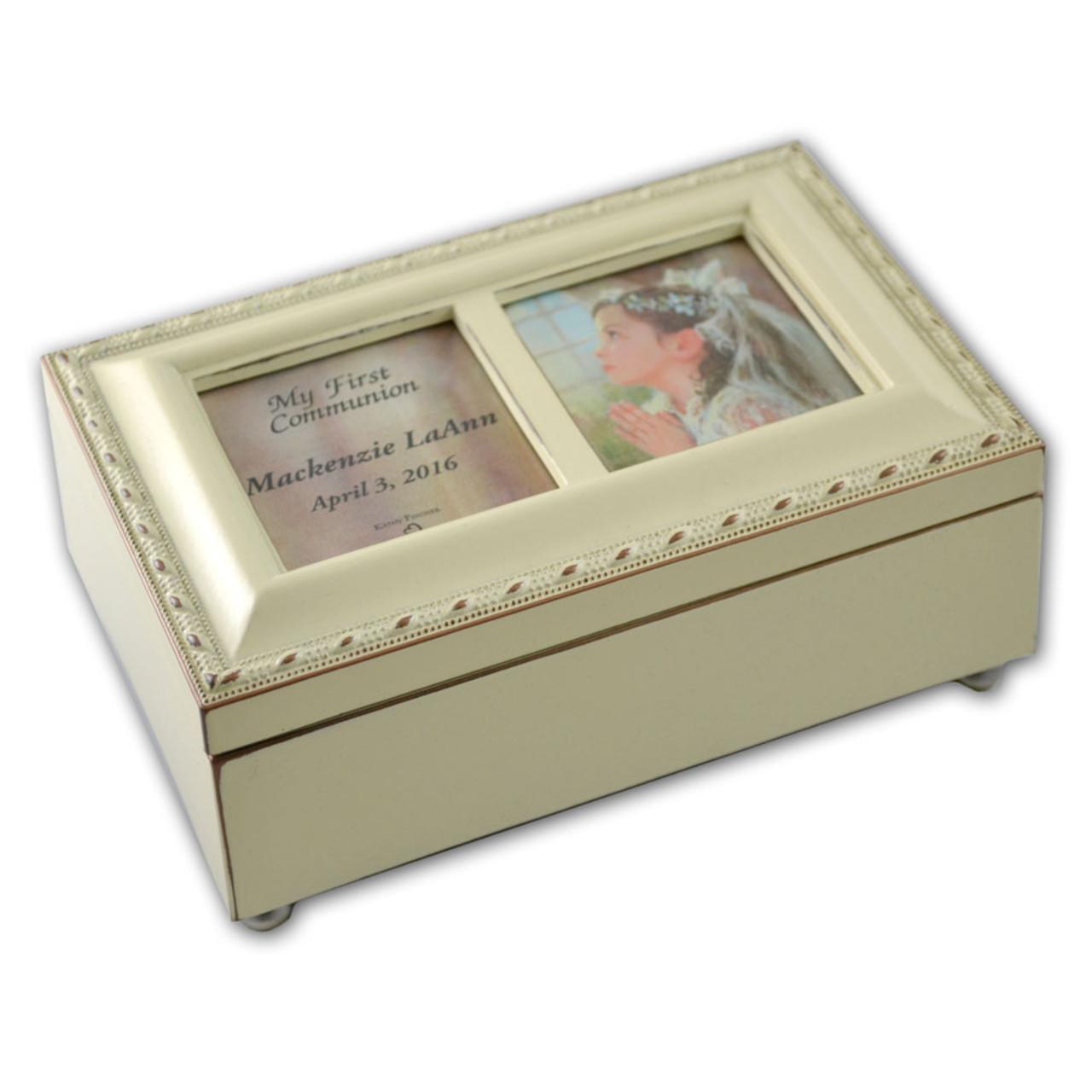 Girls Communion Music Box Ivory Personalized
