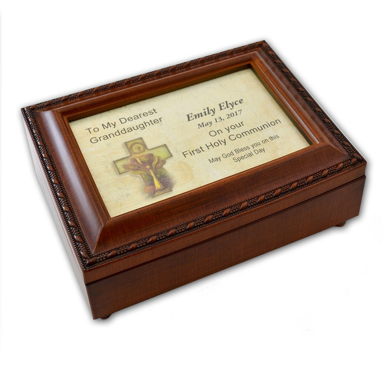 Granddaughter Communion Music Box Personalized