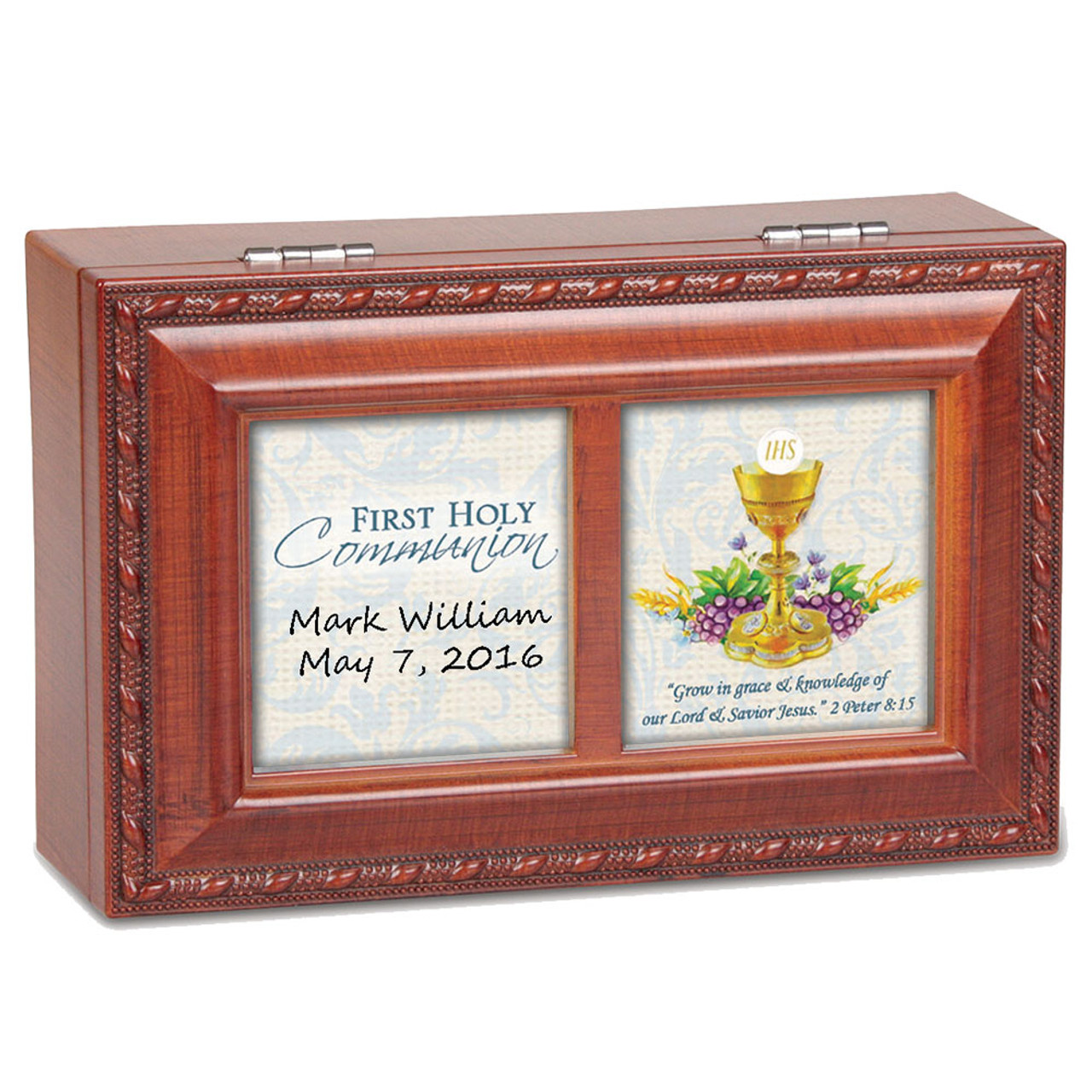 Personalized Petite First Communion Music Box