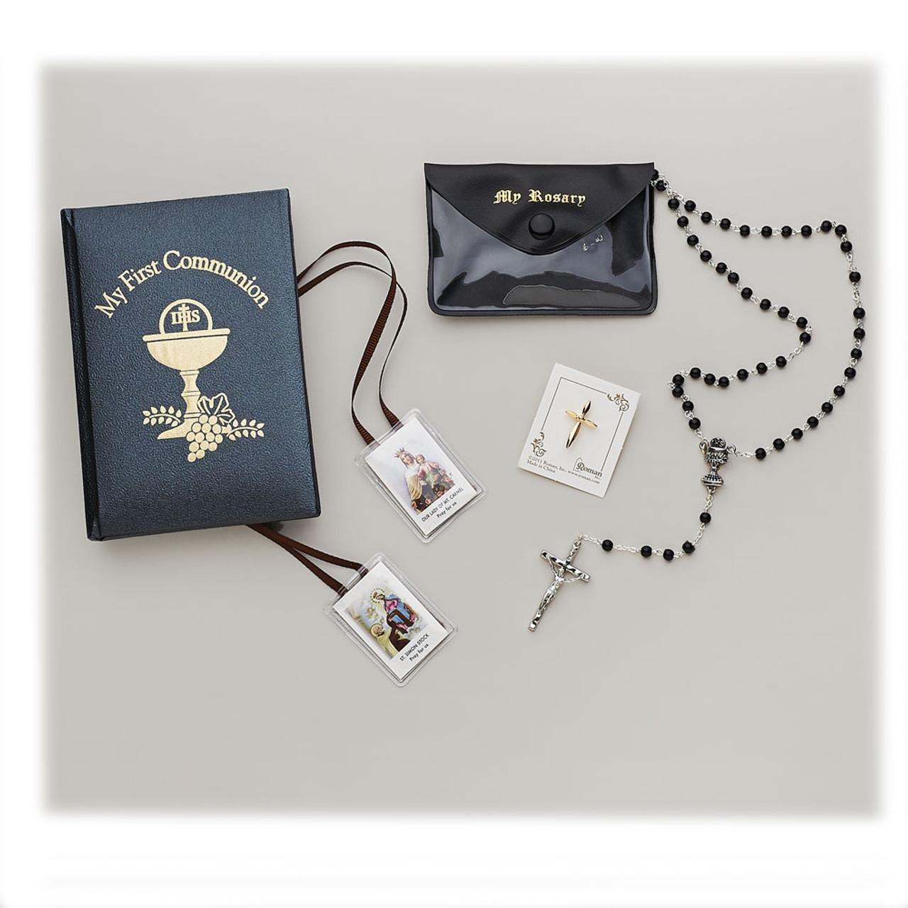 Boy's 5 pc First Communion Missal Gift Set