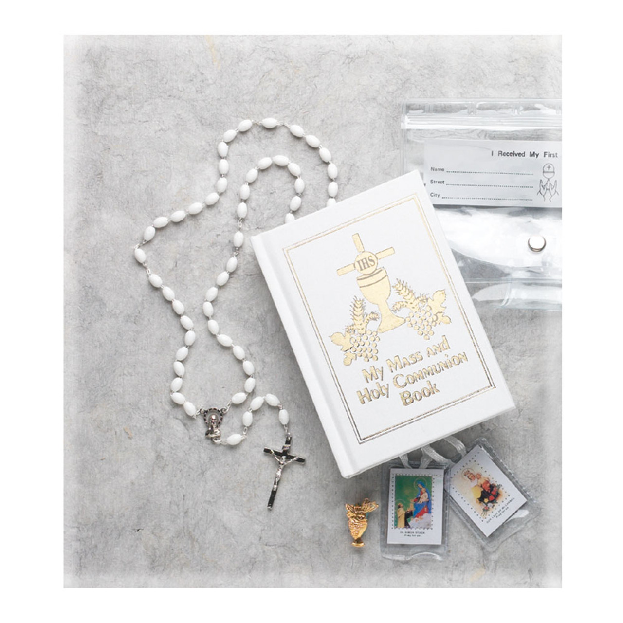 Girl's First Communion Missal Set With Clear Case