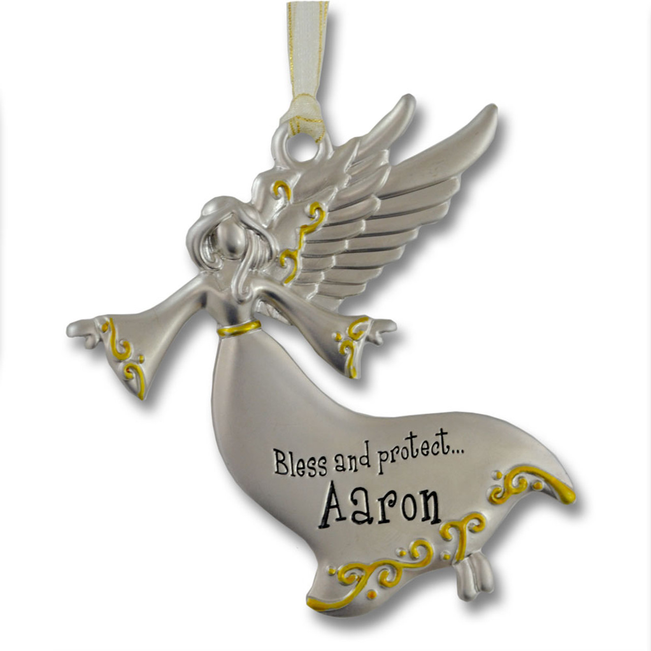 Guardian Angel Ornament with Boy Names
