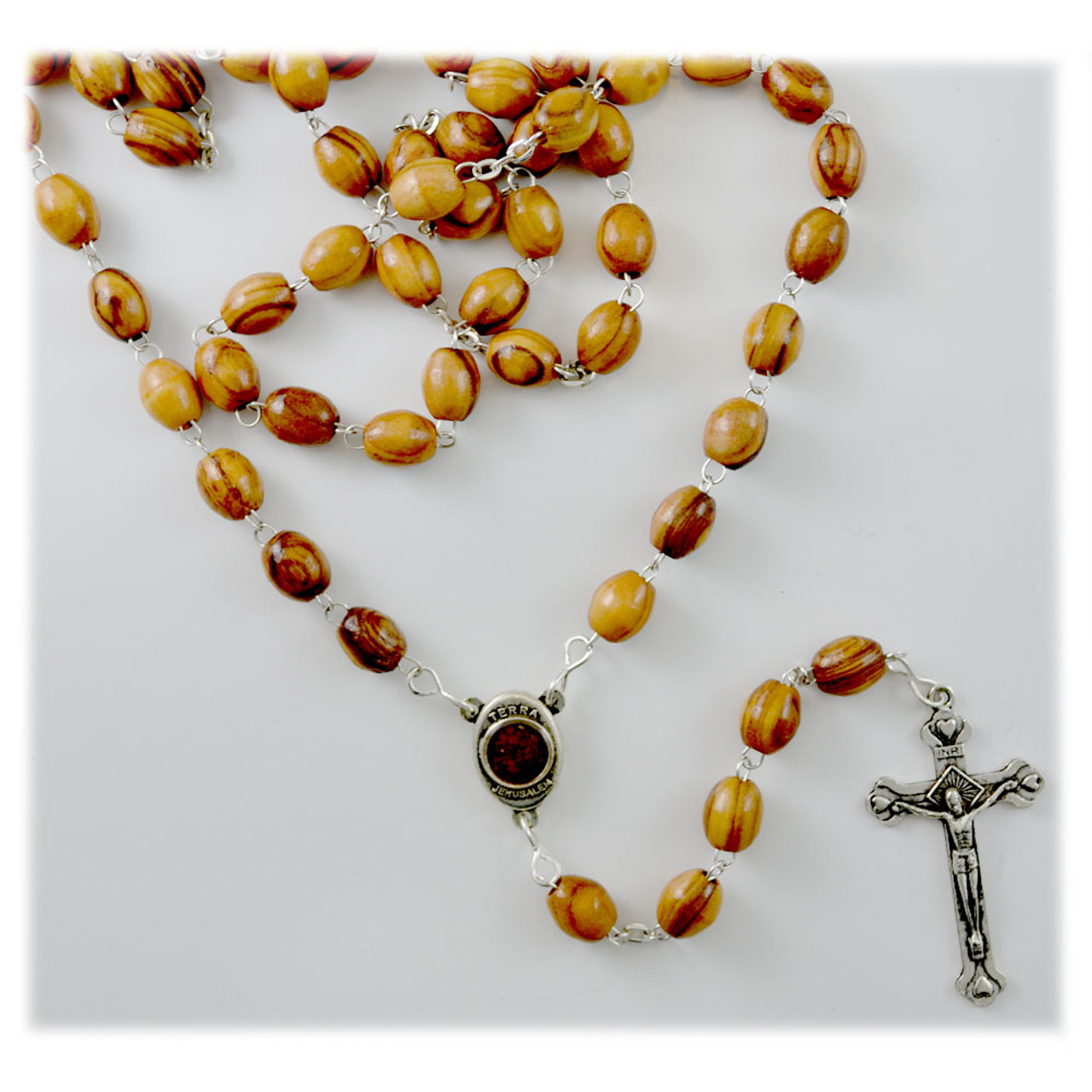 Olive Wood Rosary Made in Bethlehem