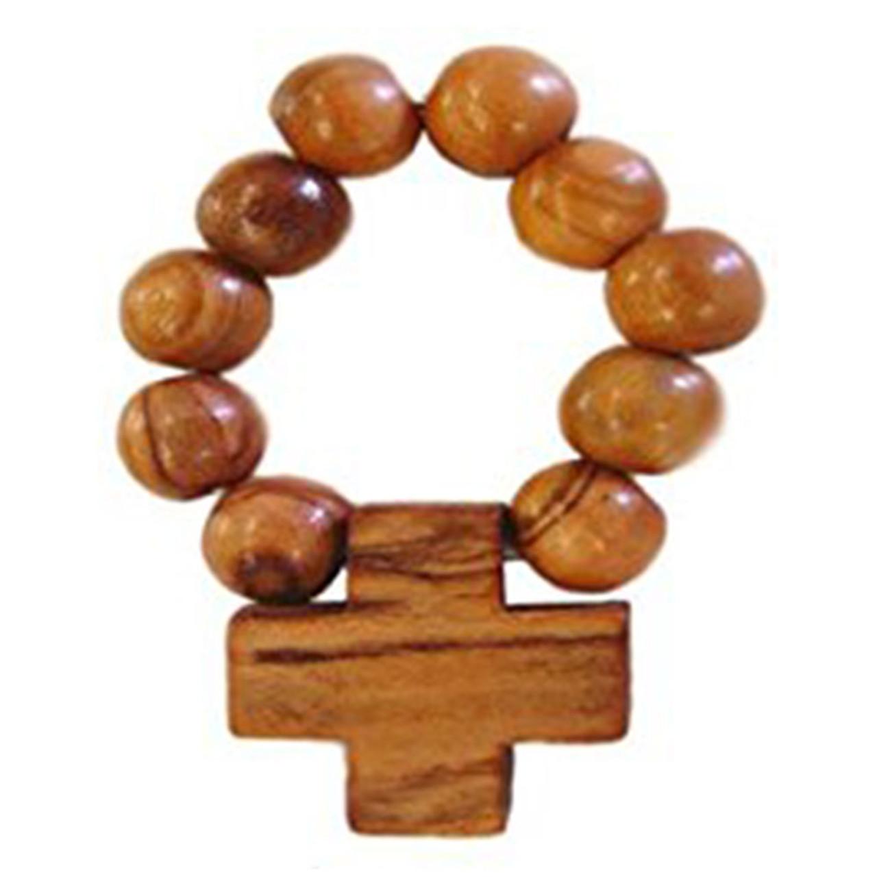 Olive Wood Finger Rosary made in Bethlehem