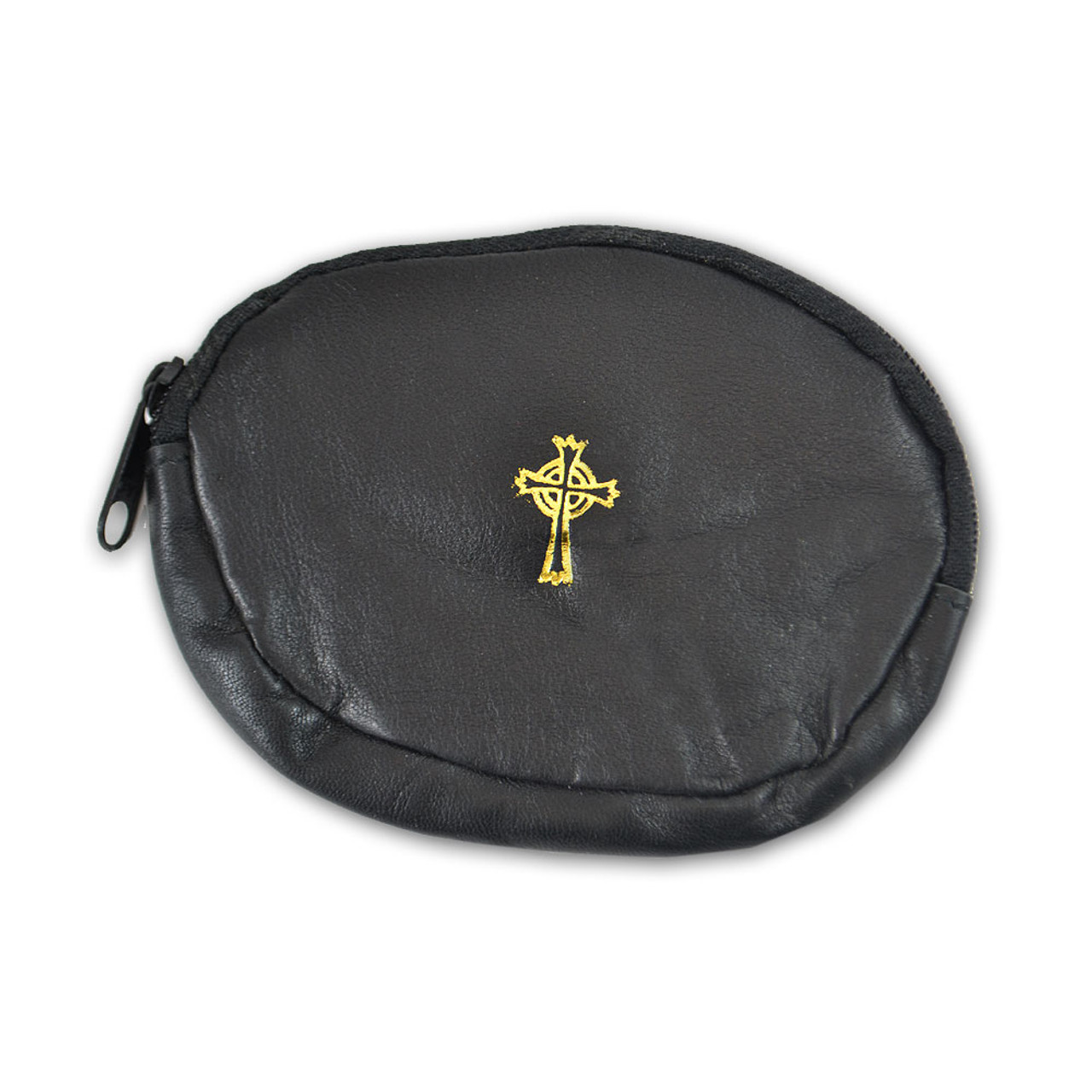Rosary Case Sheepskin Black