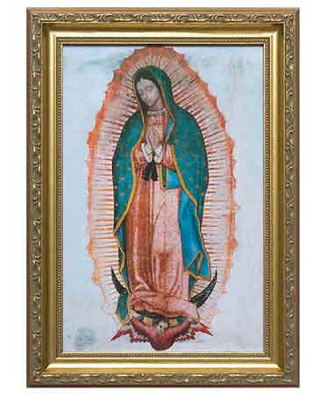 Our Lady of Guadalupe Picture 12x18 Gold Frame
