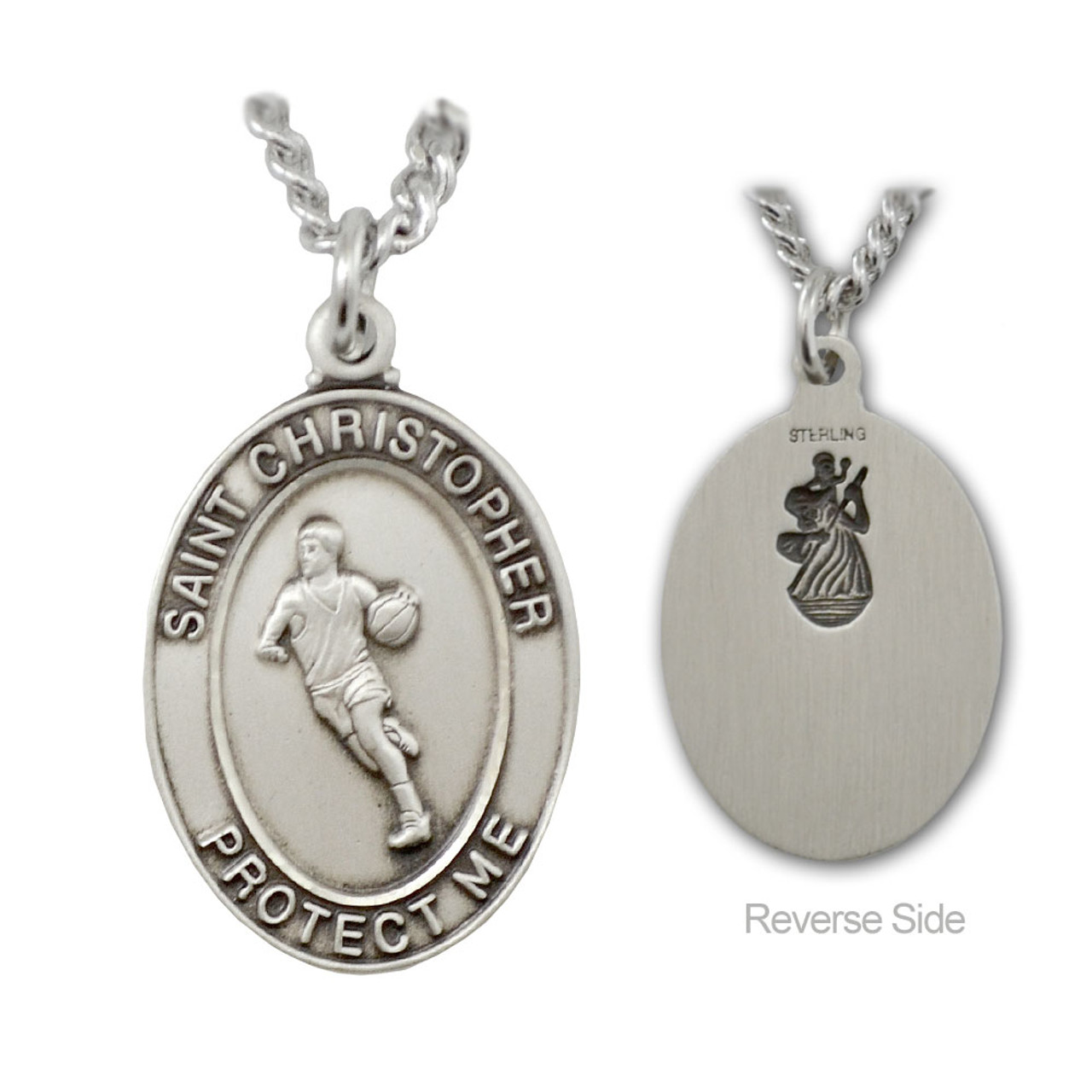 Basketball St. Christopher Necklace Male