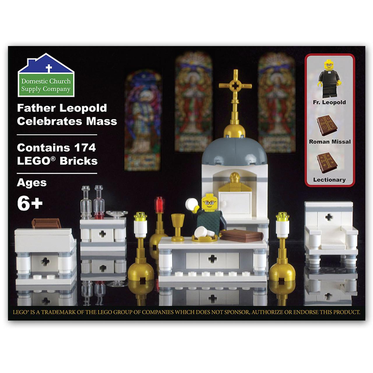 Father Leopold Celebrates Mass Religious Lego Set