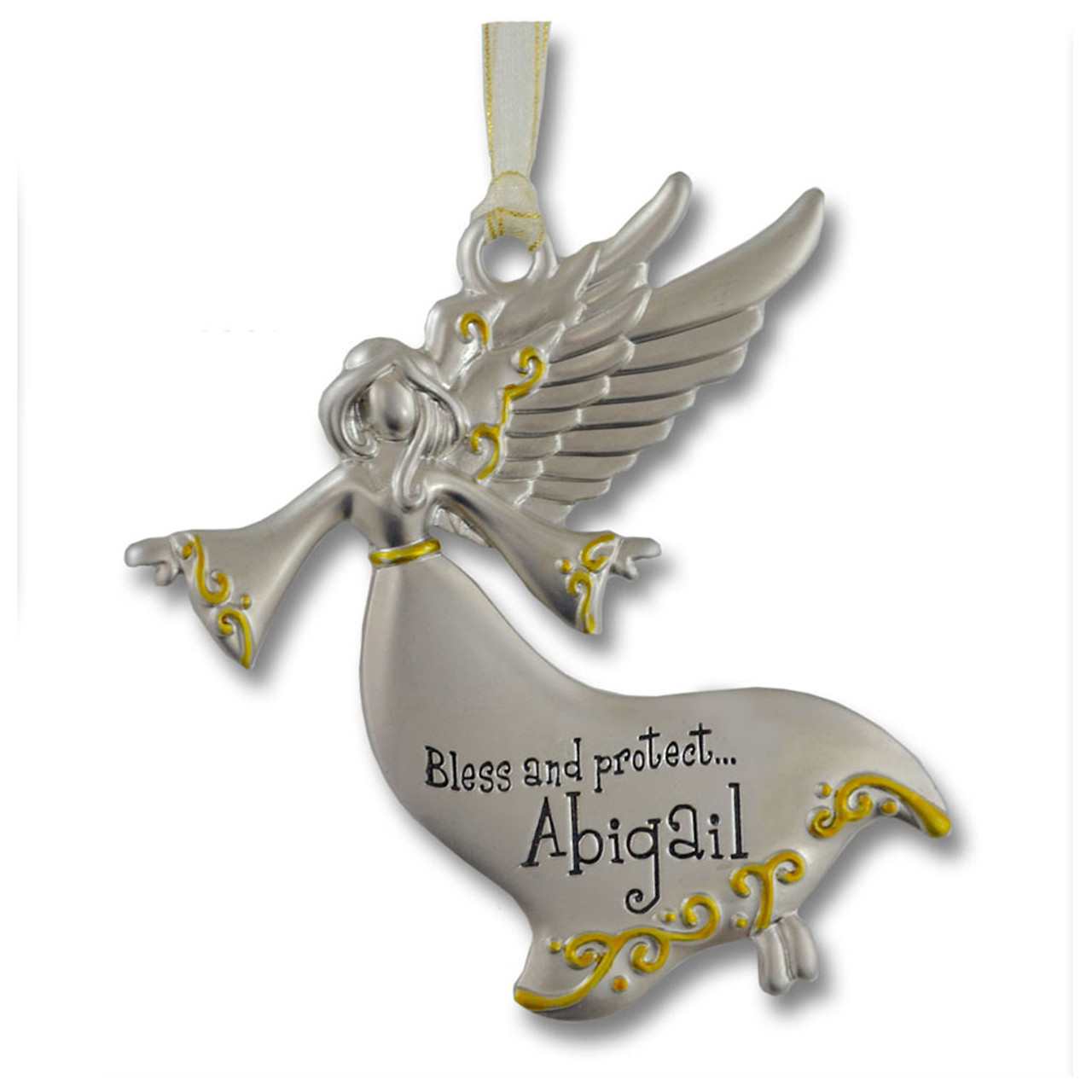 Guardian Angel Ornament with Girl Names