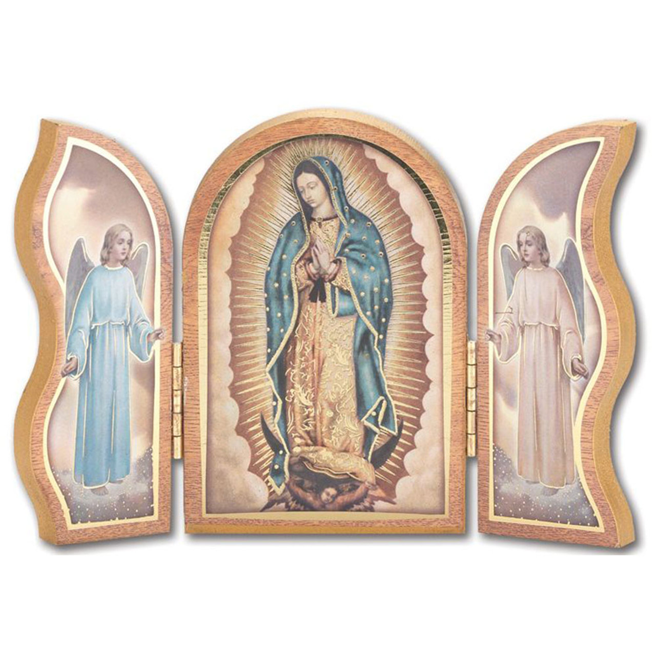 Our Lady of Guadalupe 4 X 5 Inch Icon Triptych
