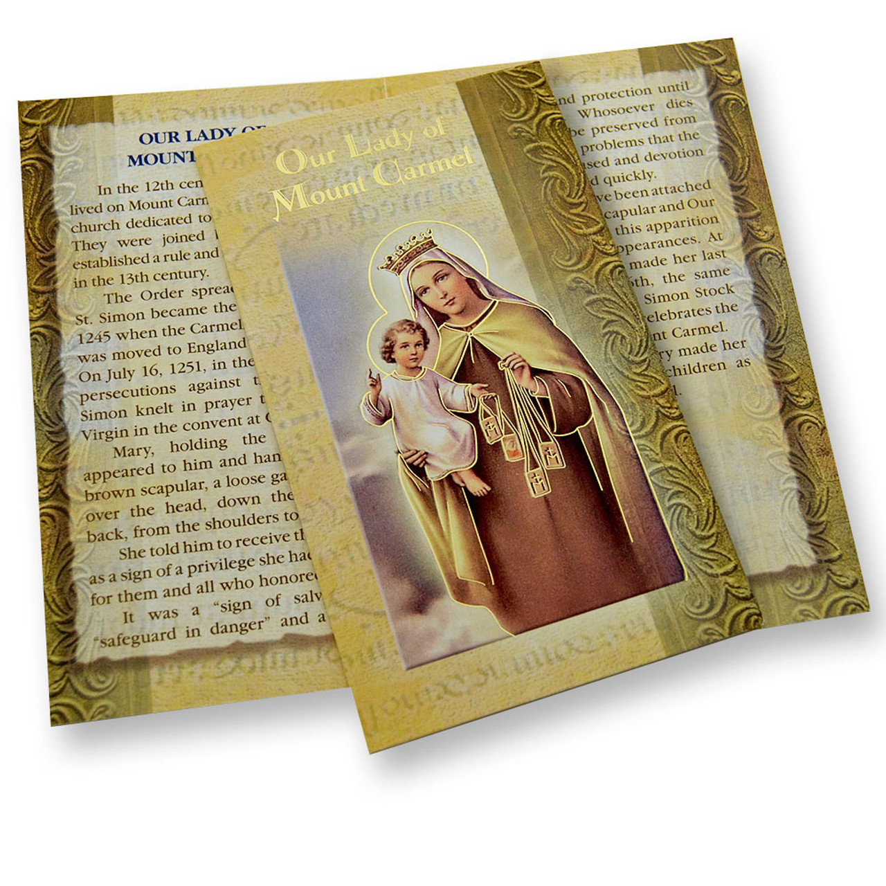 Our Lady of Mount Carmel Mini Lives Holy Card