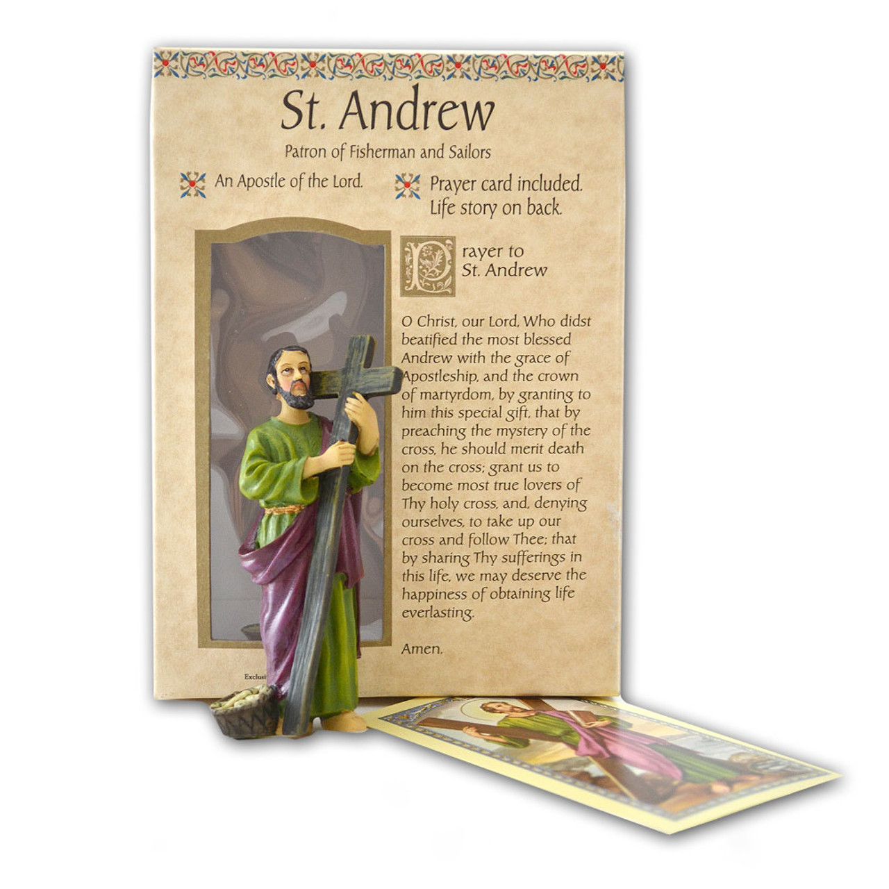"St. Andrew Resin Statue 4"""