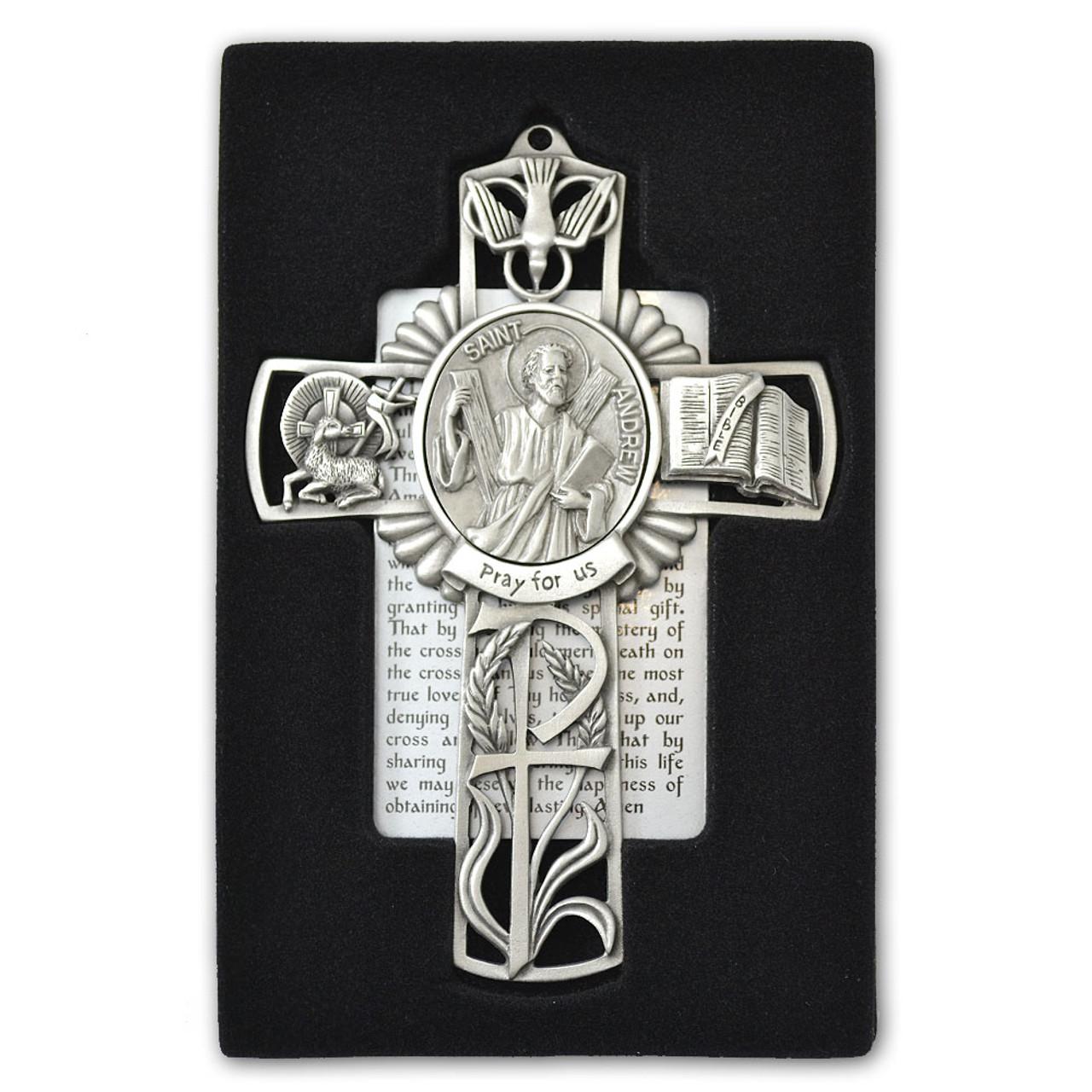 St Andrew Pewter Cross