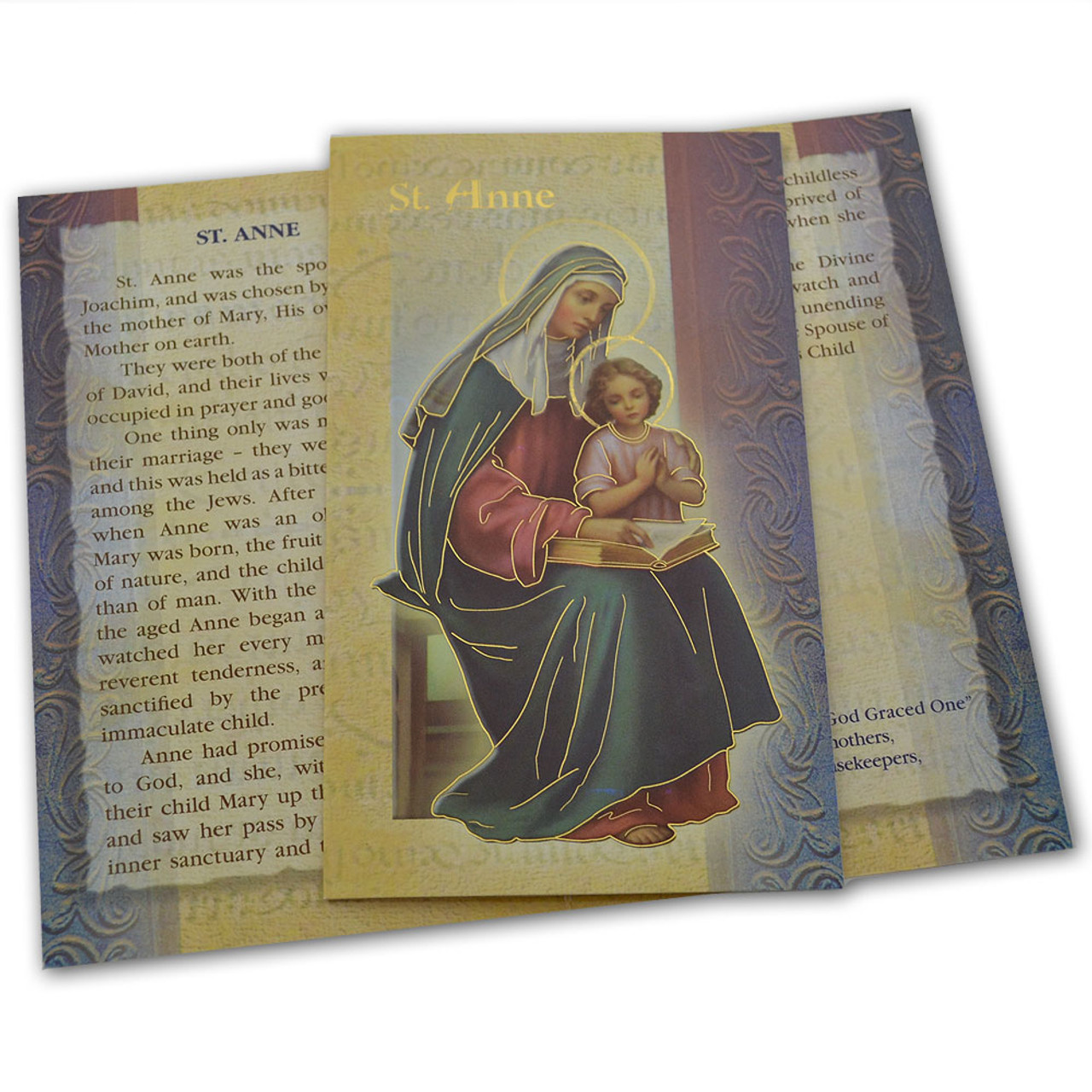 St. Anne Folded Holy Card