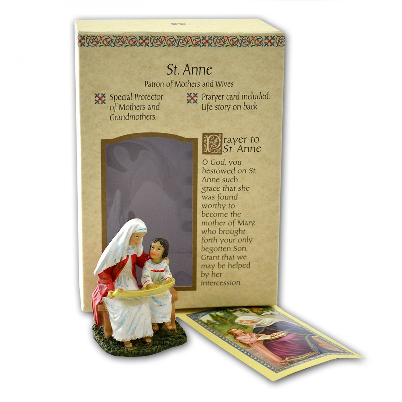 St. Anne Resin Statue 4""