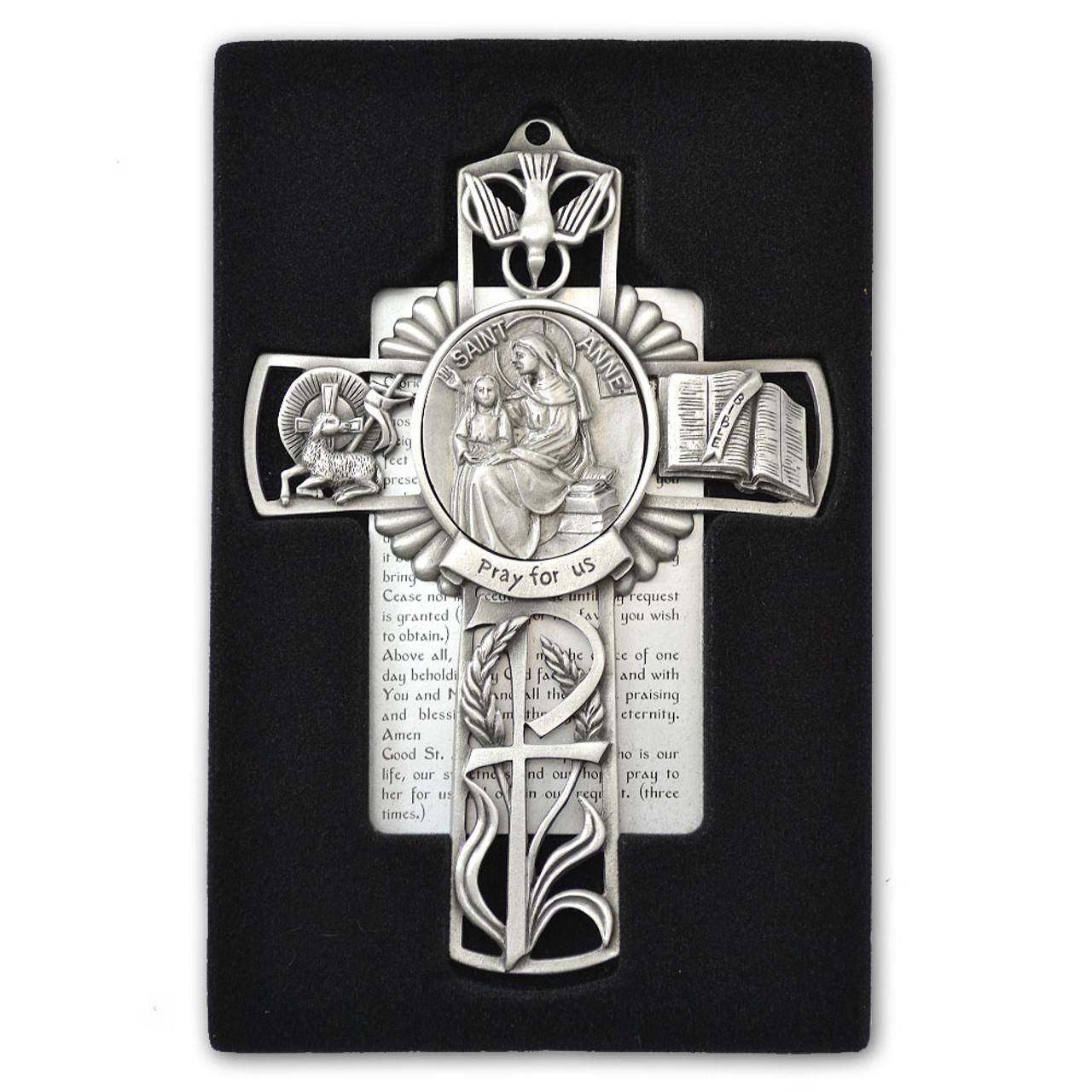 St Anne Pewter Cross