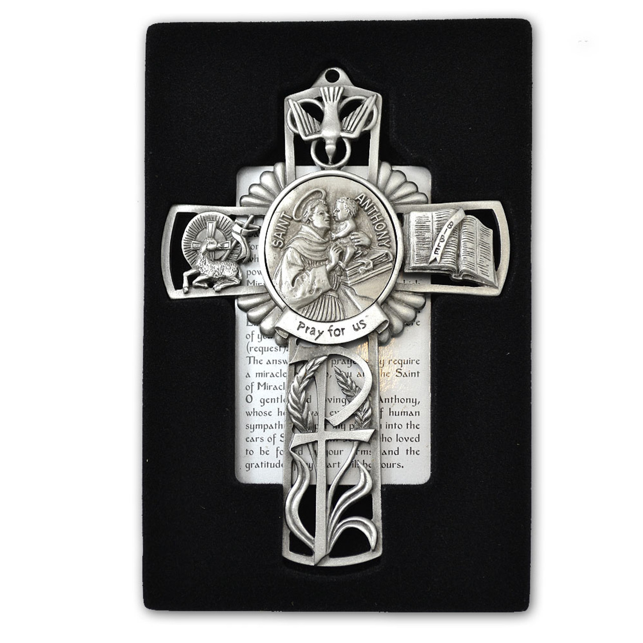 St Anthony Pewter Cross
